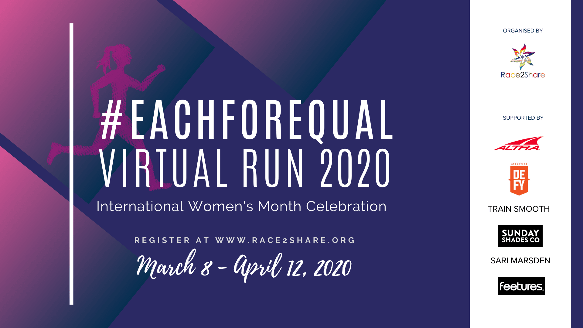Logo of EachForEqual Virtual Run 2020