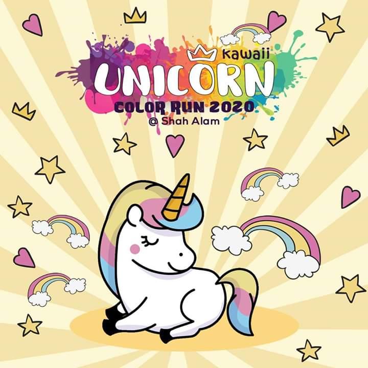 Color Run 2020 Dates.Kawaii Unicorn Color Run 2020 Justrunlah