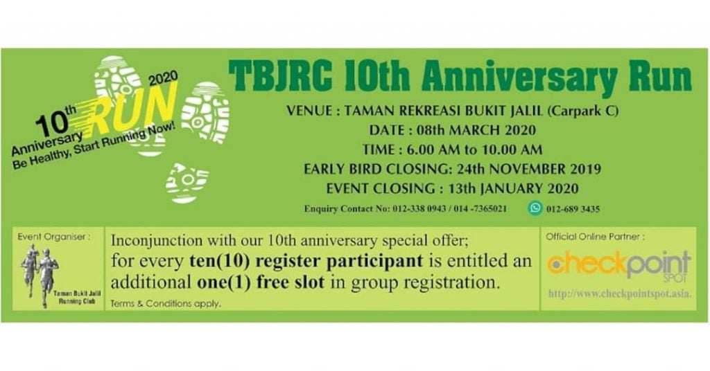 TBJRC 10th Anniversary Run 2020
