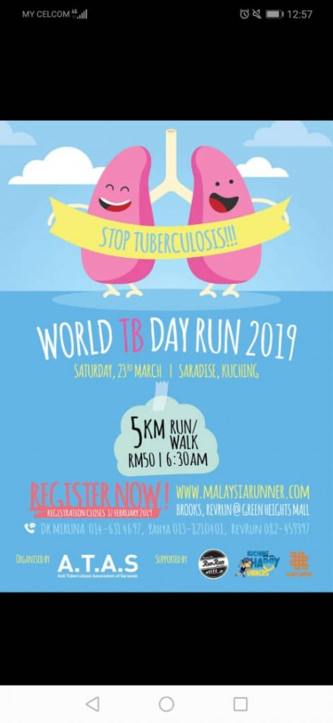 Sarawak World  TB Day 2019 Run