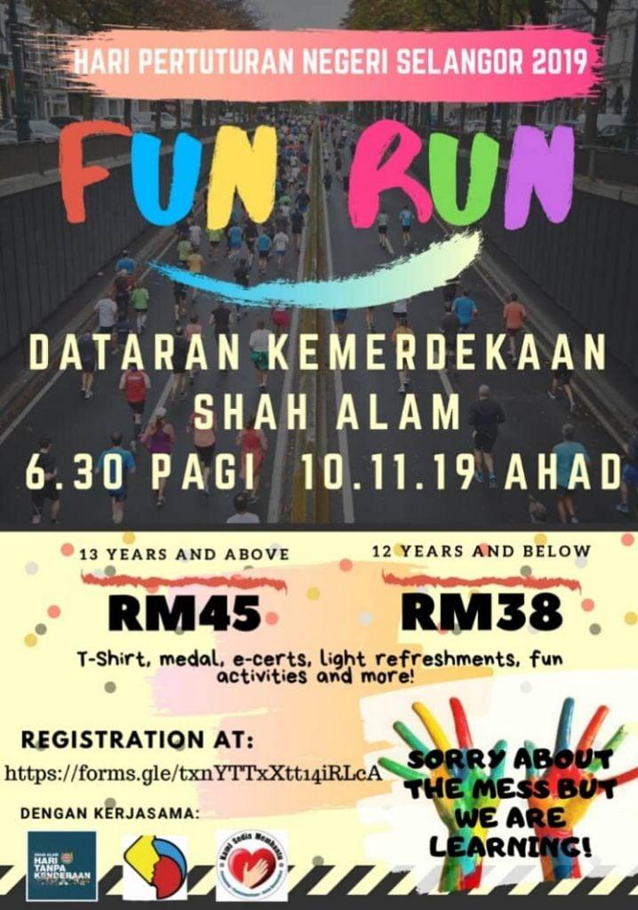 Hari Pertuturan Negeri Selangor 2019 Fun Run