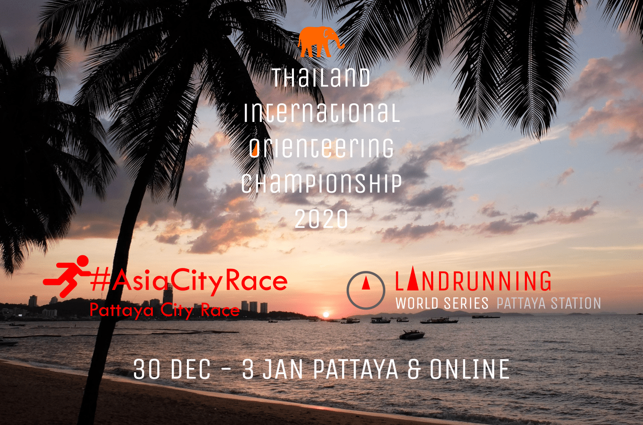 Logo of Landrunning World Series 2021 – Pattaya Station (virtual version – part of Thailand International Orienteering Championship 2020 weekend)