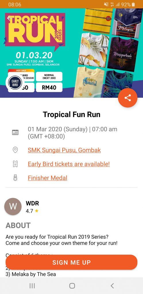 Tropical Run 2020