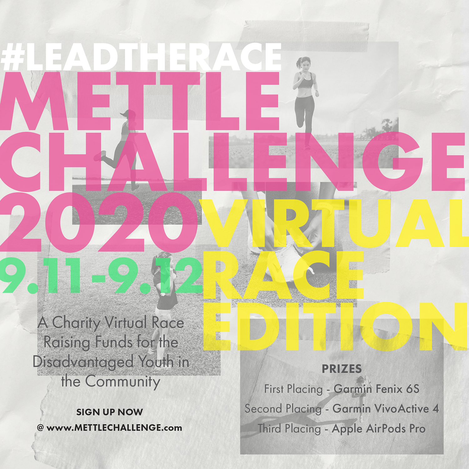 Logo of Mettle Challenge: #LEADTHERACE Virtual Run 2020