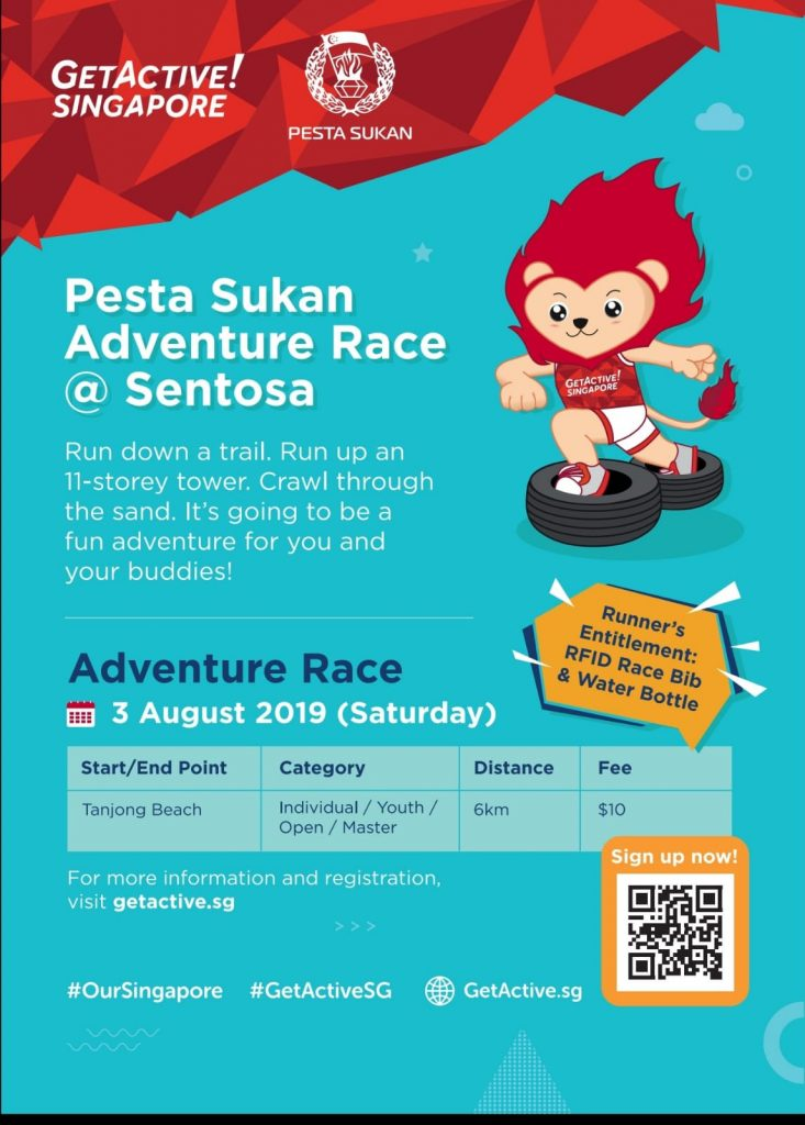 Pesta Sukan Adventure Race @ Sentosa 2019
