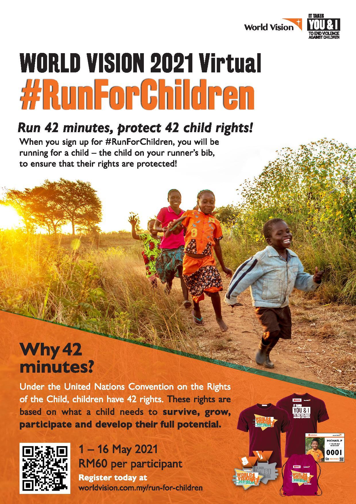 Logo of World Vision 2021 Virtual #RunForChildren