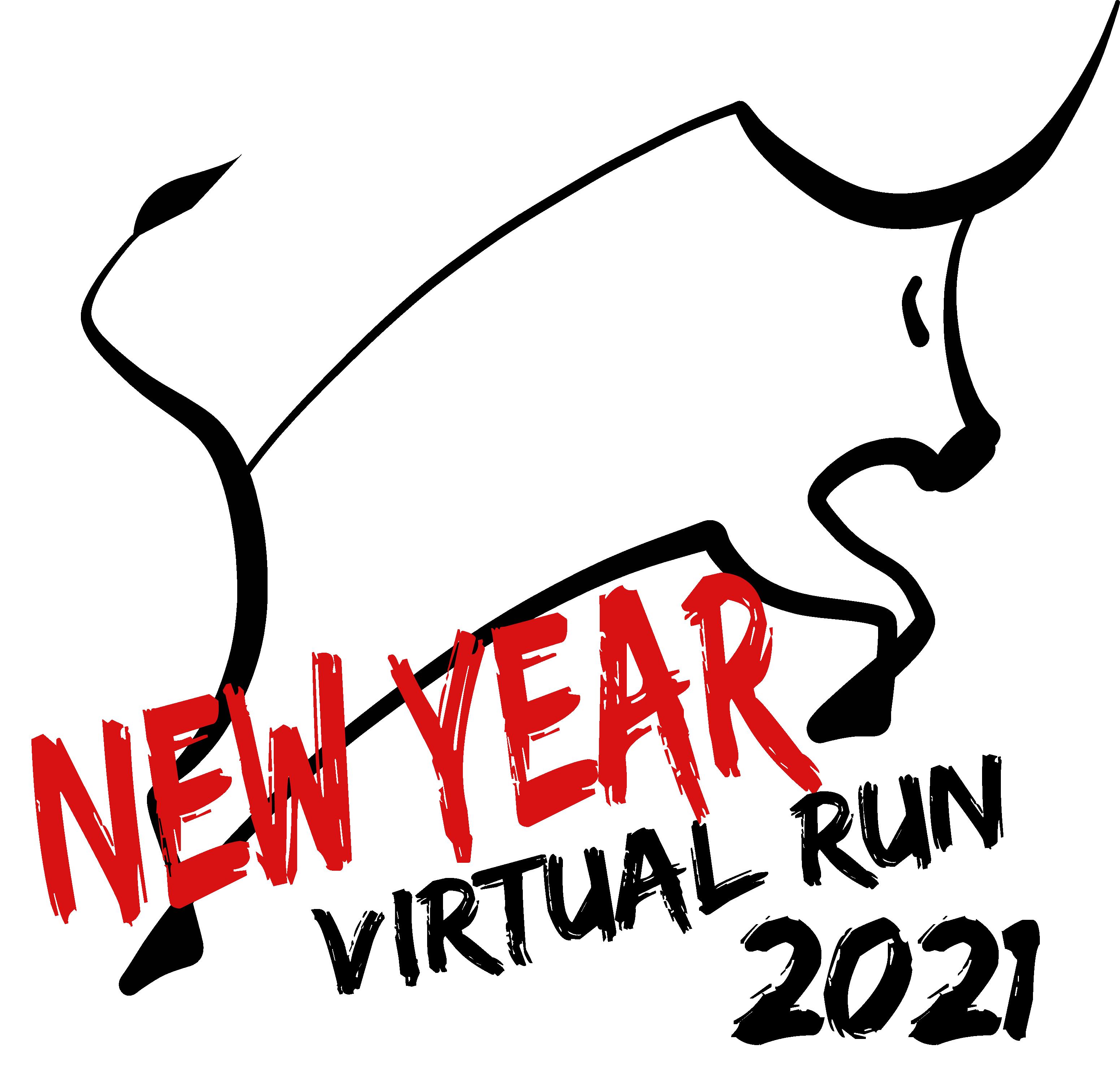 Logo of 2021 New Year Virtual Run