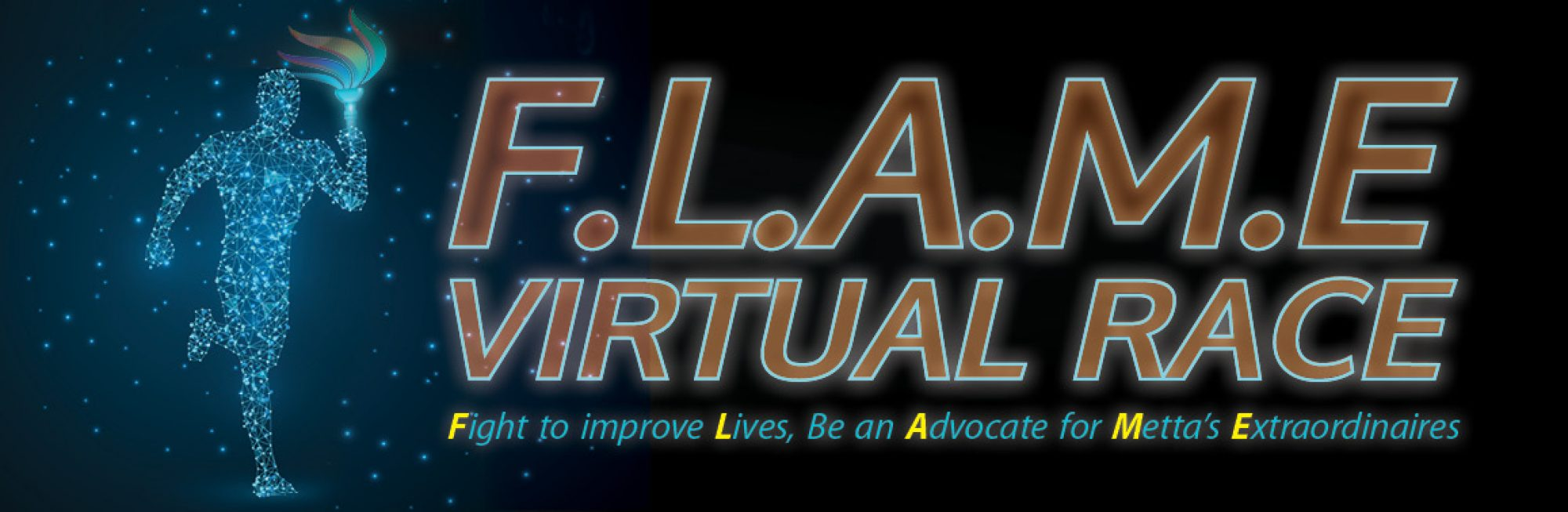 Logo of F.L.A.M.E Virtual Race 2018