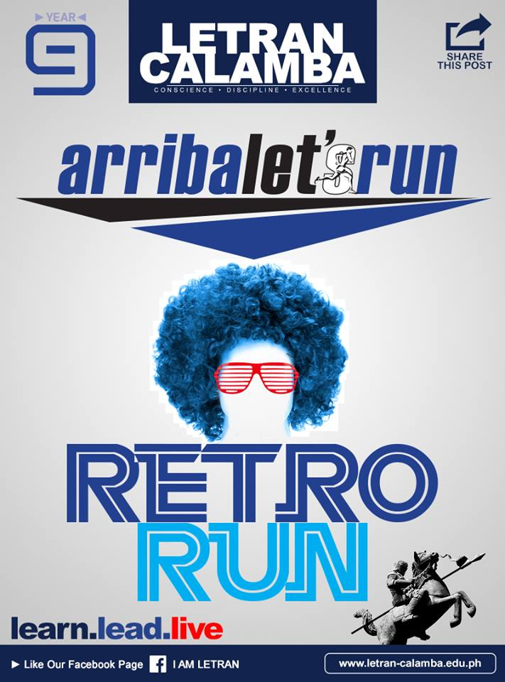 "Arriba let's run Year 9 ""Retro Run"" 2019"