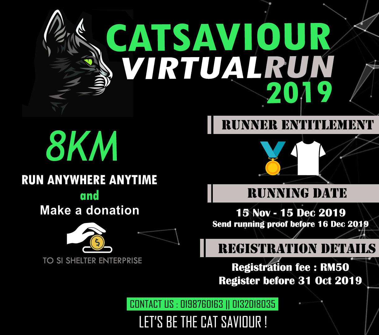 Logo of Catsaviour Virtual Run 2019