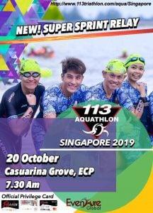 113 Aquathlon – Singapore edition 2019
