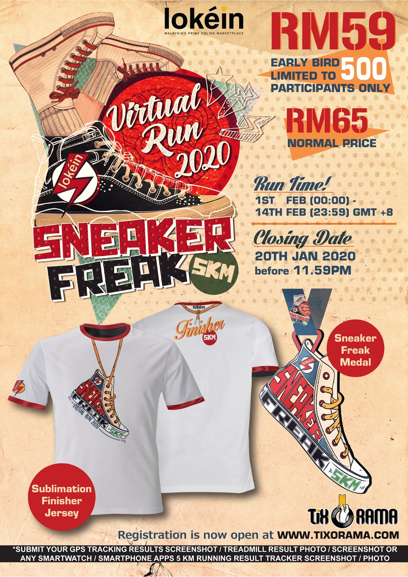 Logo of Lokein Sneaker Freak 5KM Virtual Fun Run 2020