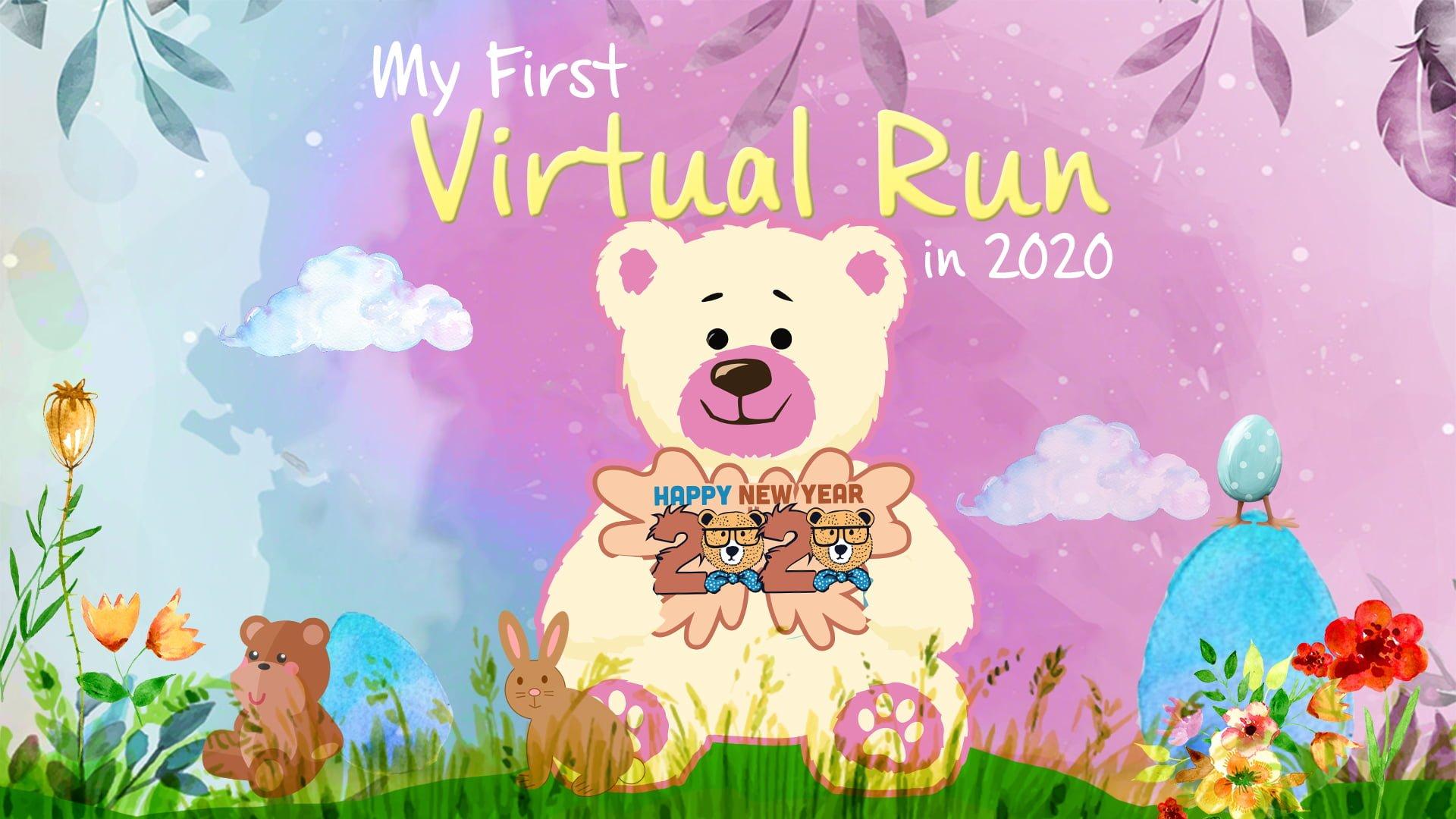 Logo of My First Virtual Run in 2020