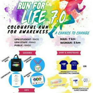 Run For Life 7.0 2018 – Colourful Run For Awareness