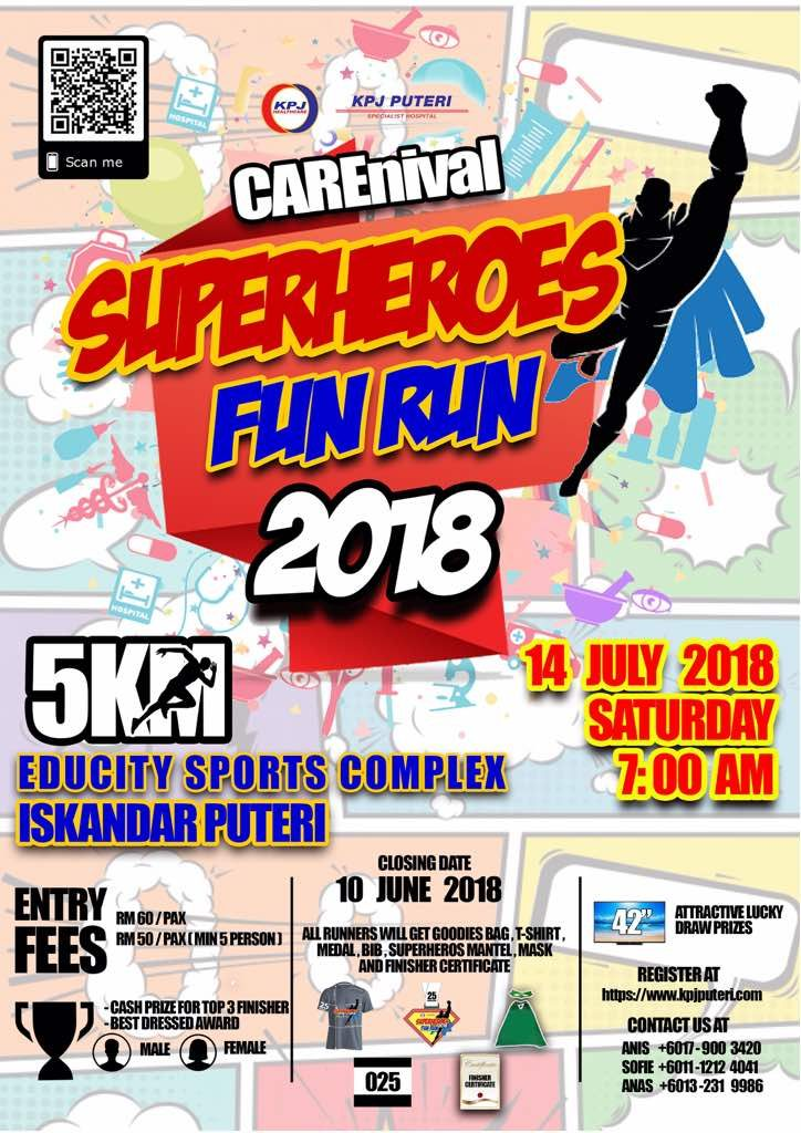 KPJ Puteri Carnival Superheroes Fun Run 2018