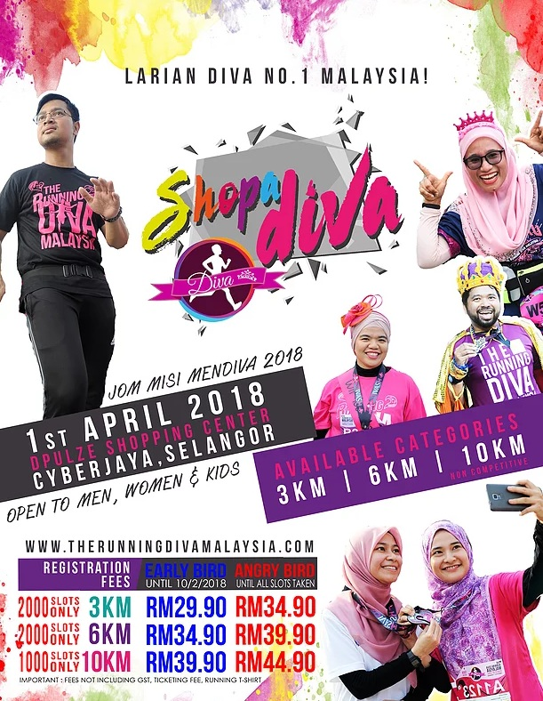 The Running Diva Malaysia | Shopadiva 2018