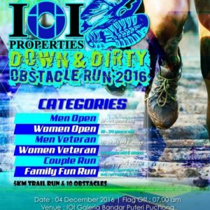 IOI Properties Down & Dirty Obstacle Run 2016