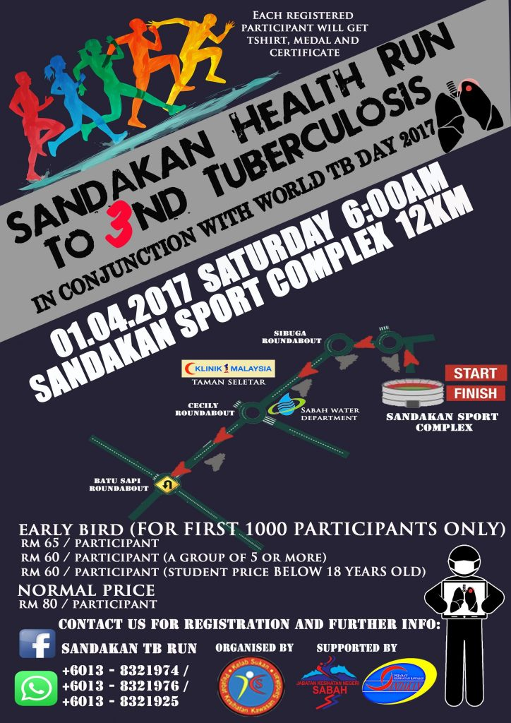 Sandakan Health Run to 3nd Tuberculosis 2017