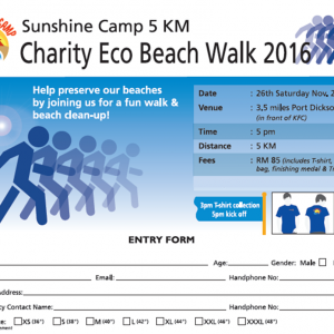 Rotary Charity Eco Beach Walk 2016