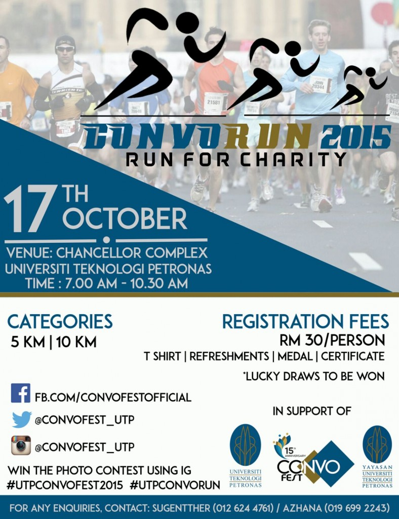 UTP CONVORUN 2015 – Run for charity