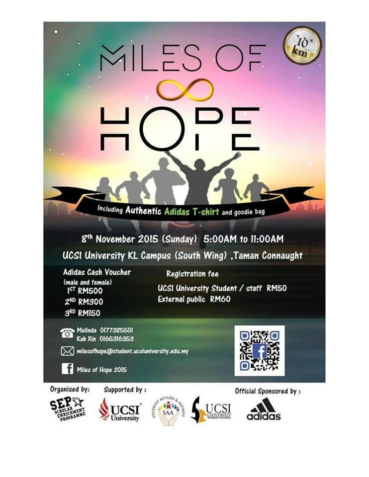 UCSI University's Miles of Hope 2015