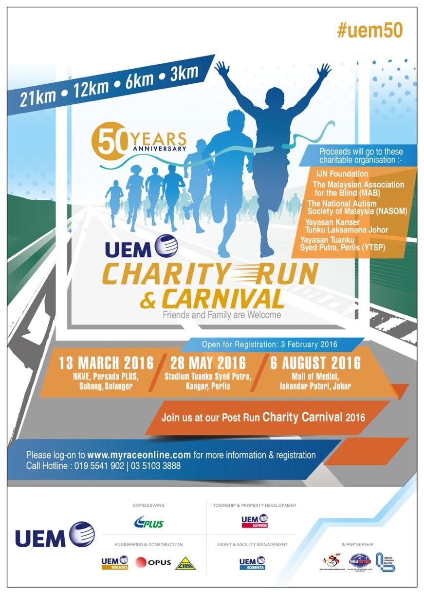 UEM Charity Run 2016 – Perlis | Just Run Lah!